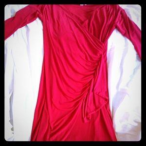 Calvin Kleinn Red Midi Dress NWT no flaws